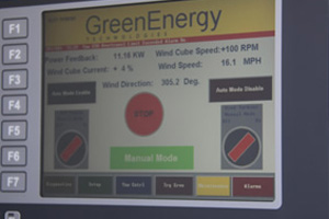 Wind turbine touch screen